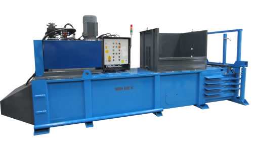 Horizontal waste baler
