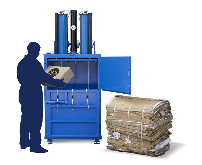 Waste baler for cardboard