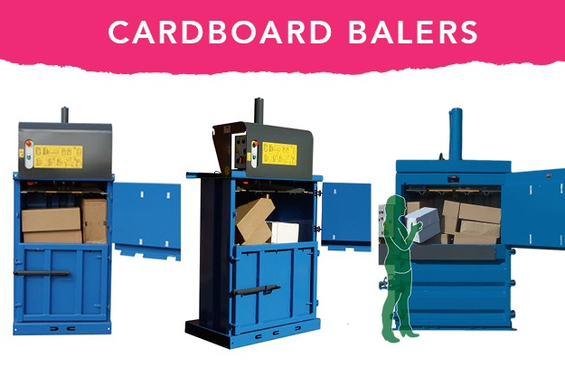 Cardboard waste balers from QCR