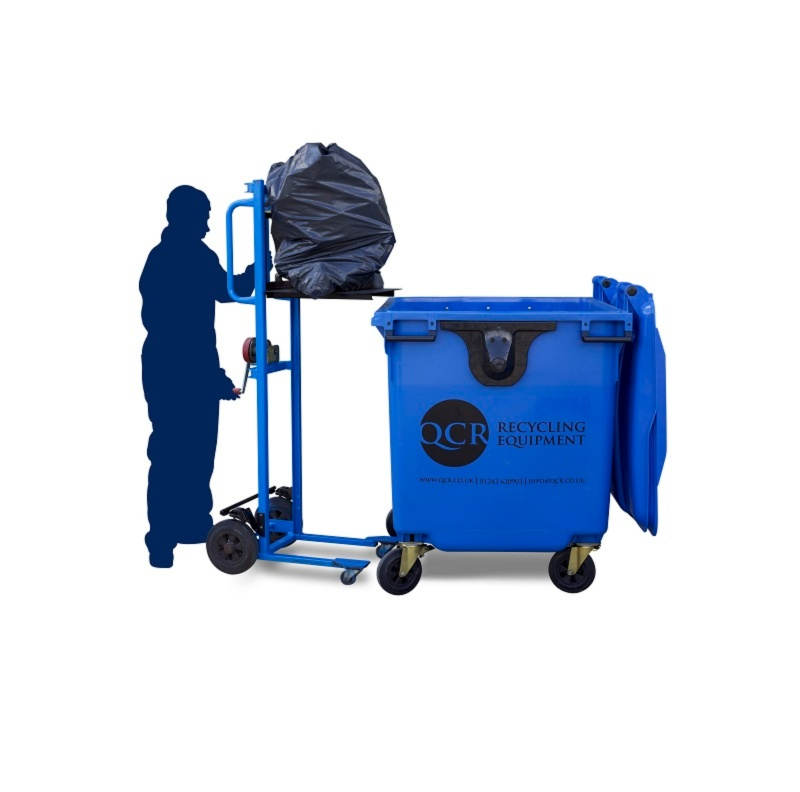 QCR lift trolley for easy waste handling
