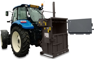 Easily mounts to tractor or forklift for mobile operation
