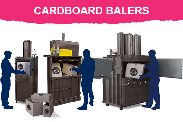 Cardboard balers for recycling
