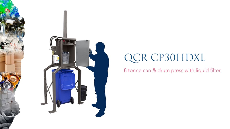 QCR CP30HDXL Can Crusher
