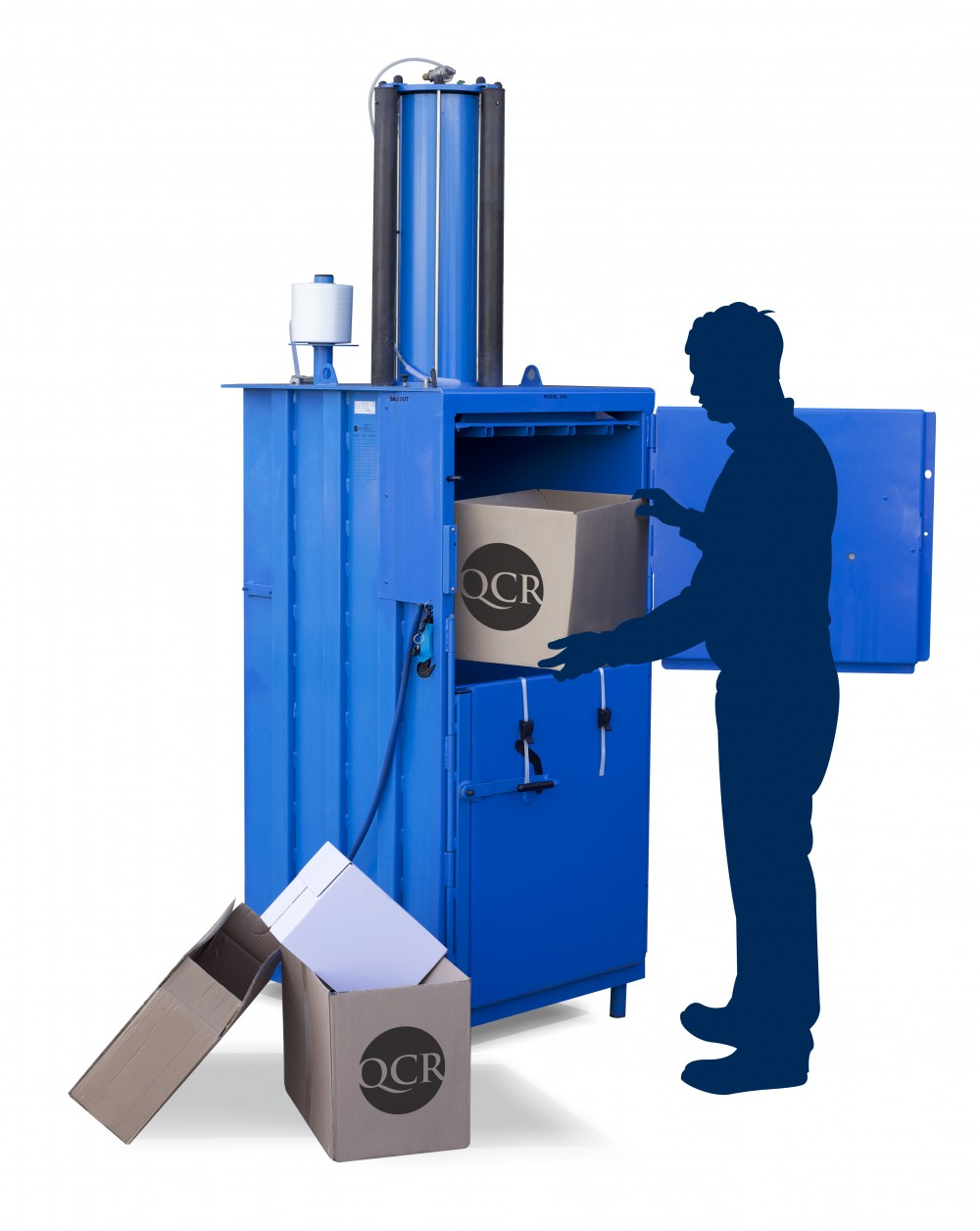 medium sized cardboard baler