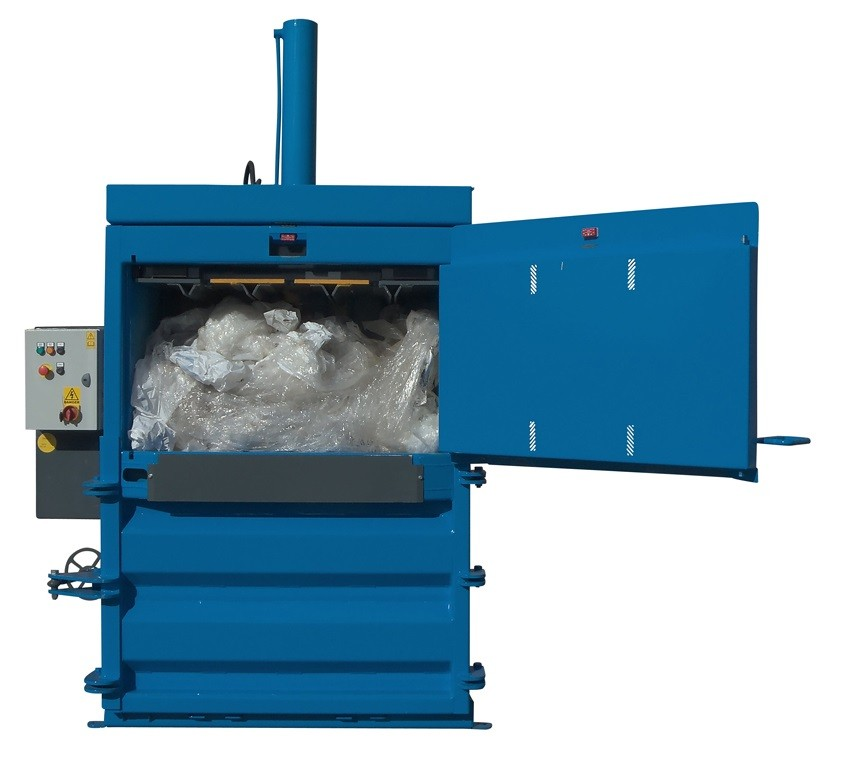 mill size baler for plastic waste recycling