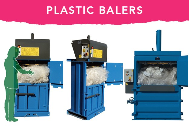 Plastic waste balers from QCR