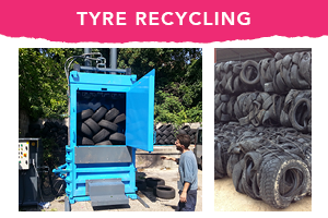 tyre recycling baler