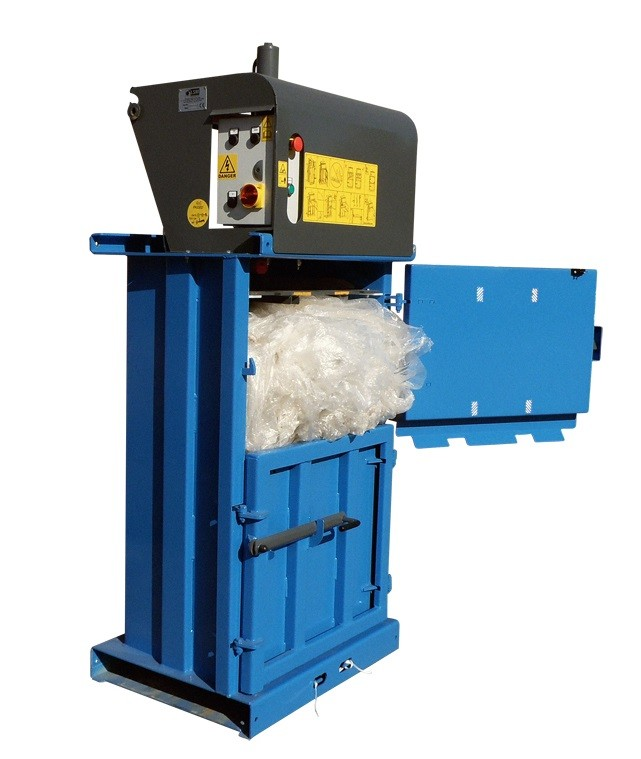 waste baler suitable for plastics